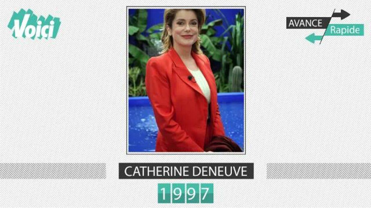 VIDEO Catherine Deneuve a 73 ans: son évolution physique en une minute