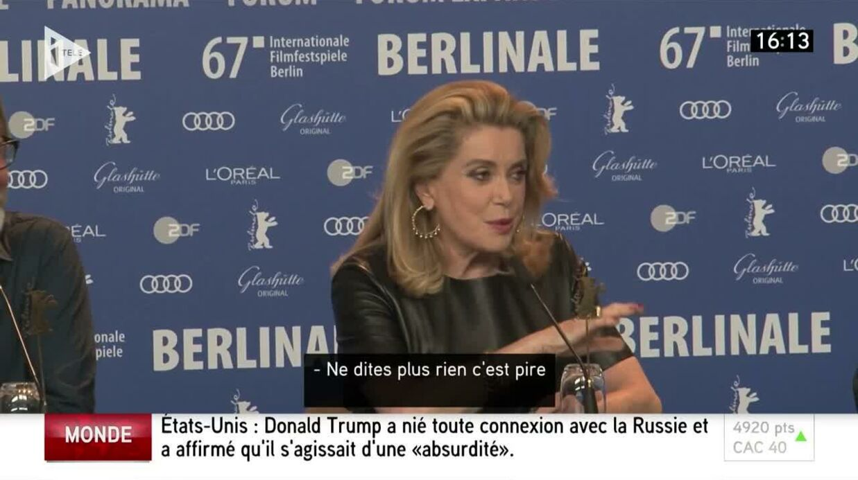 VIDEO Catherine Deneuve remet en place une journaliste qui tacle son dernier film
