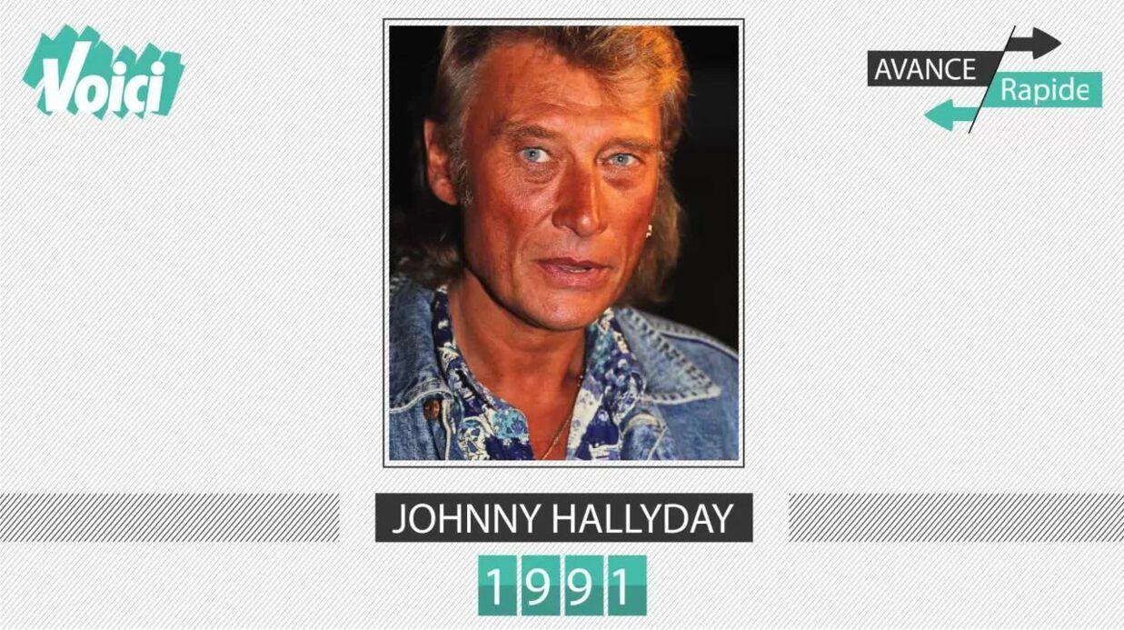 Spécial 30 ans de Voici – Johnny Hallyday: son évolution physique en une minute