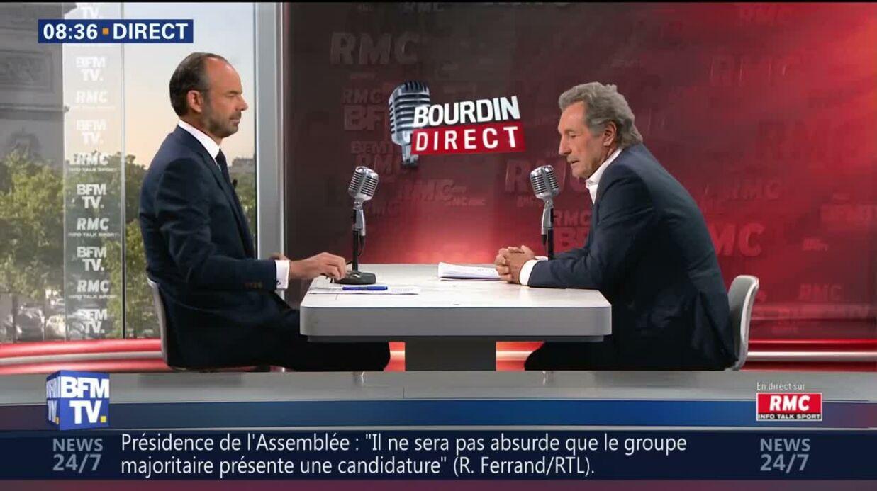 Jean-Jacques Bourdin et Edouard Philippe découvrent qu'ils sont à l'antenne pendant une conversation privée