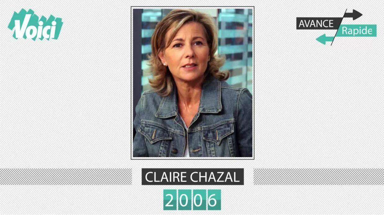 Spécial 30 ans de Voici – Claire Chazal: son évolution physique en une minute