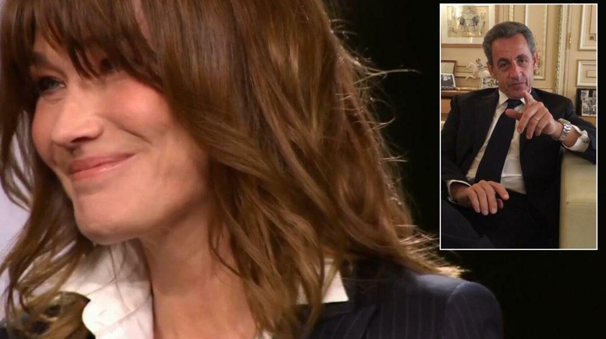 VIDEO L'adorable message surprise de Nicolas Sarkozy à Carla Bruni en direct sur France 2