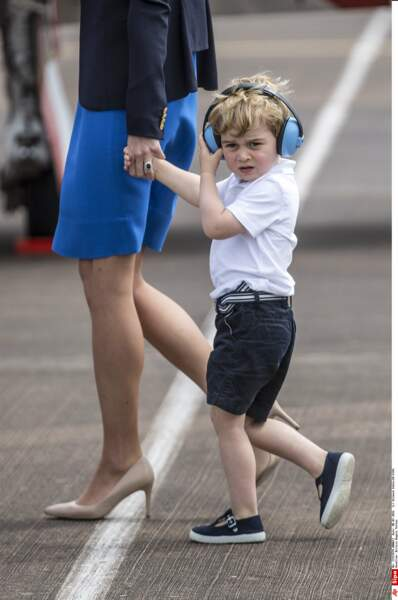 Anniversaire du Prince George - Elle n'a pas lâché la main de George, réputé plutôt turbulent