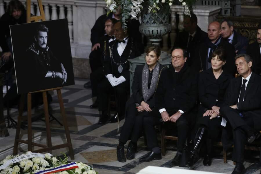 Julie Gayet, François Hollande, Carla Bruni et Nicolas Sarkozy