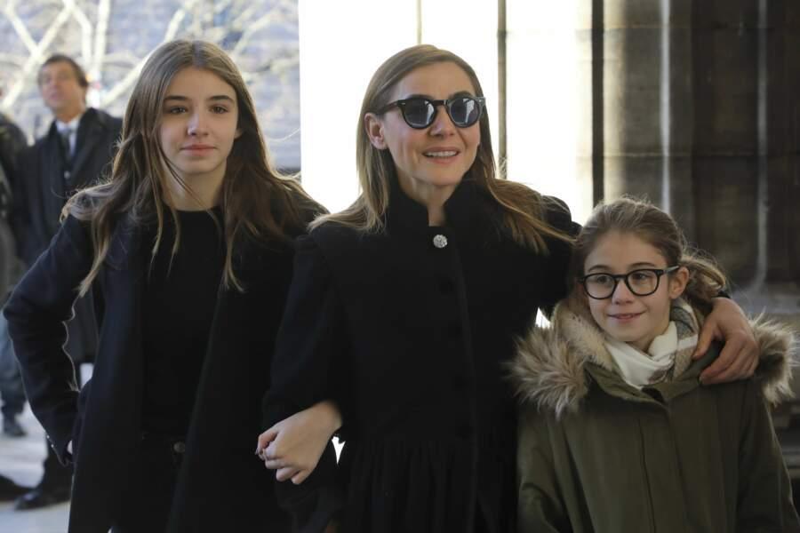 Clotilde Courau et ses filles