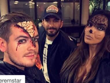 Nabilla en mode féline pour Halloween avec Thomas Vergara