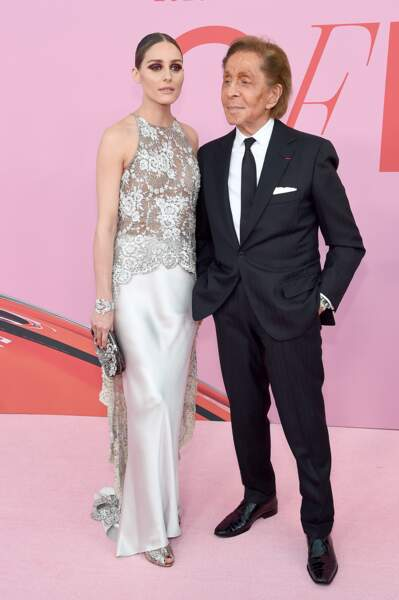 Olivia Palermo et le couturier Valentino