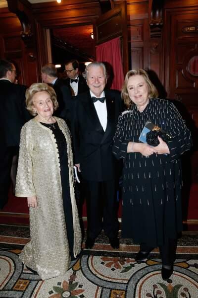 Bernadette Chirac, Bruno Roger et Maryvonne Pinault