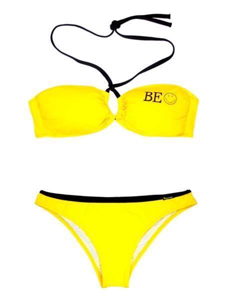 Bandeau, 35€ et culotte, 25€ (Smiley by Bikini Bar)