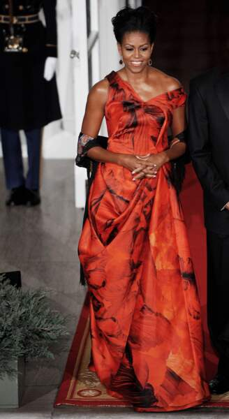Michelle Obama en Alexander McQueen