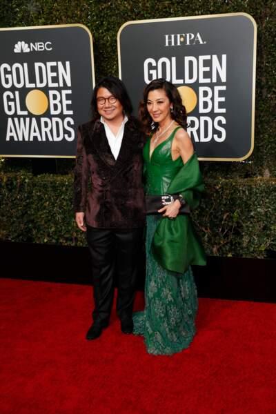 76ème cérémonie des Golden Globes : Kevin Kwan et Michelle Yeoh