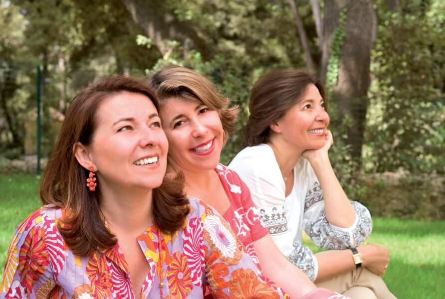 Françoise, Agnès et Anne Costa, les héritières Fragonard