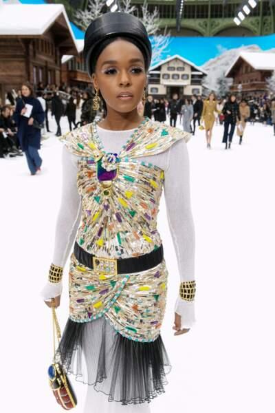 Janaelle Monae au défilé Chanel pour un dernier hommage à Karl Lagerfeld