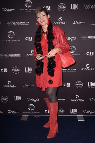"""Globes de cristal 2017 : Isabelle Morini-Bosc et son look pour le moins """"original"""""""