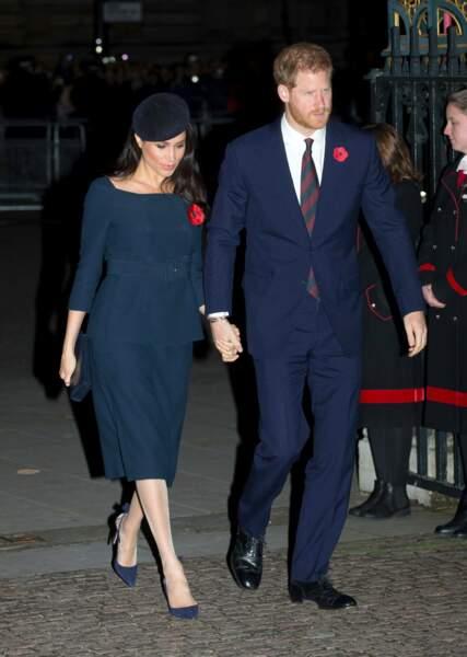 Meghan Markle et le prince Harry à Londres pour la commémoration du centenaire de l'armistice de la Grande guerre