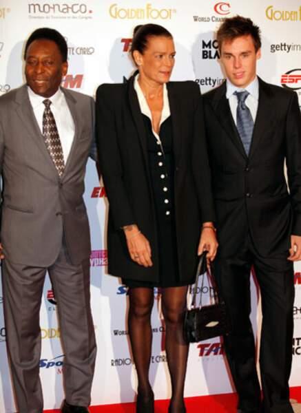 Pelé, Stéphanie de Monaco et Louis Grimaldi