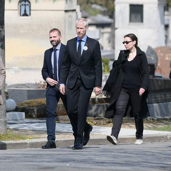 Franck Riester aux obsèques d'Agnès Varda au cimetière du Montparnasse