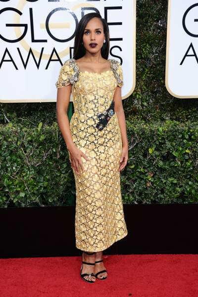 Golden Globes 2017 :  Kerry Washington en Dolce & Gabbana. Bof !