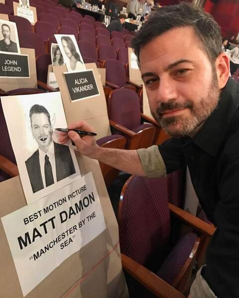 Jimmy Kimmel a tout prévu pour gâcher la soirée de Matt Damon