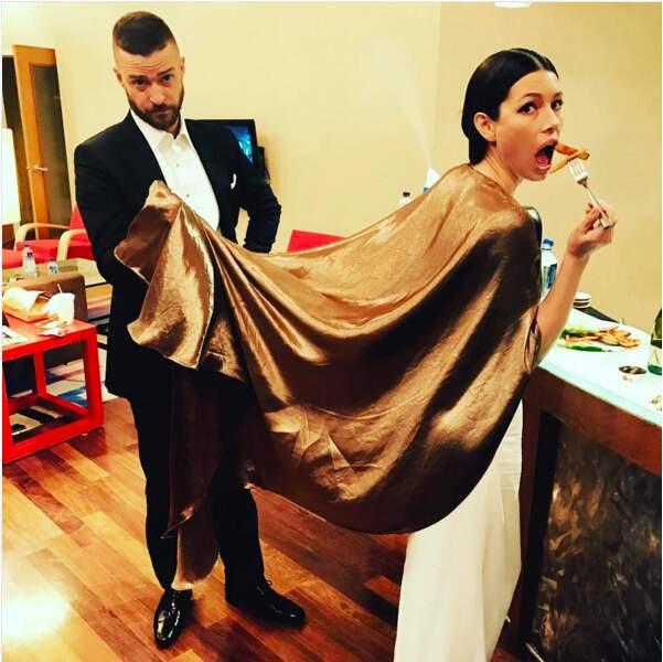Même Justin Timberlake et Jessica Biel mangent