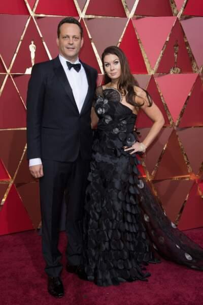 Les plus beaux couples des Oscars 2017 : Vince Vaughn et Kyla Weber