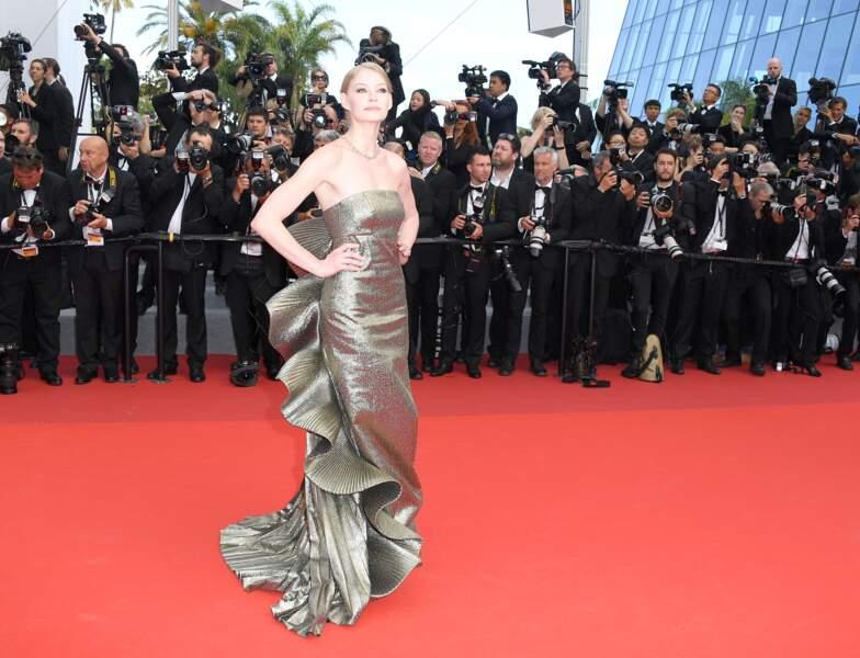 Cannes - Montée des Marches pour le 70ème anniversaire : Svetlana Khodchenkova
