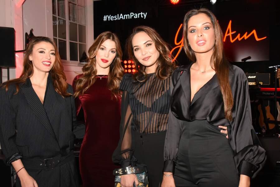 Rachel Legrain-Trapani, Iris Mittenaere, Valerie Bègue et Malika Ménard