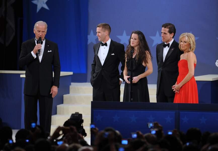 Joe Biden avec ses trois enfants - Beau, Ashley et Hunter -  et son épouse