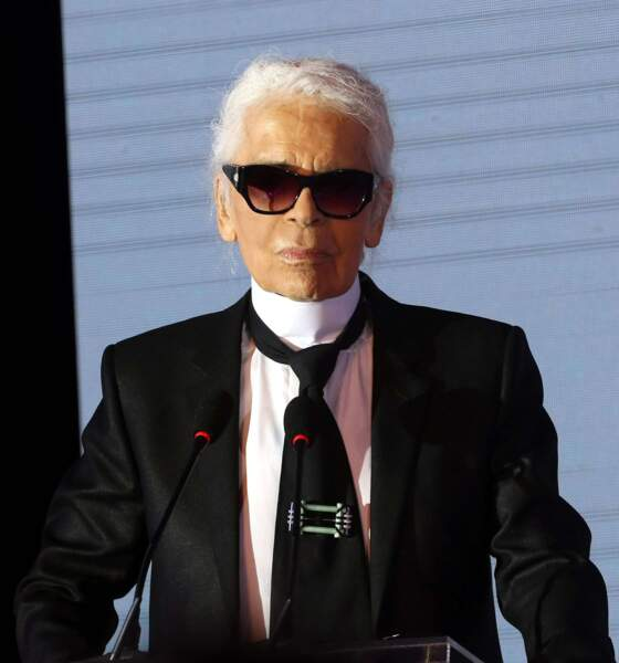 L'évolution physique de Karl Lagerfeld : le créateur en 2016
