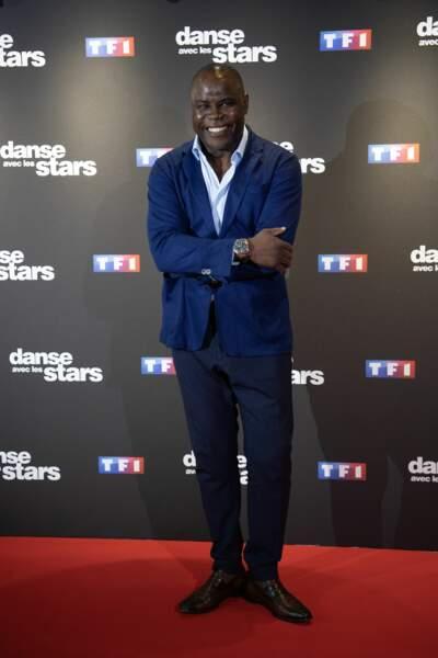Basile Boli sur le tapis rouge de Danse avec les stars