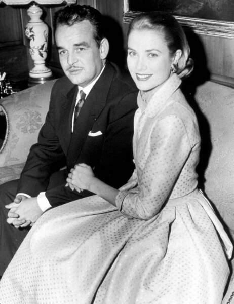 Le prince Rainier III et Grace Kelly
