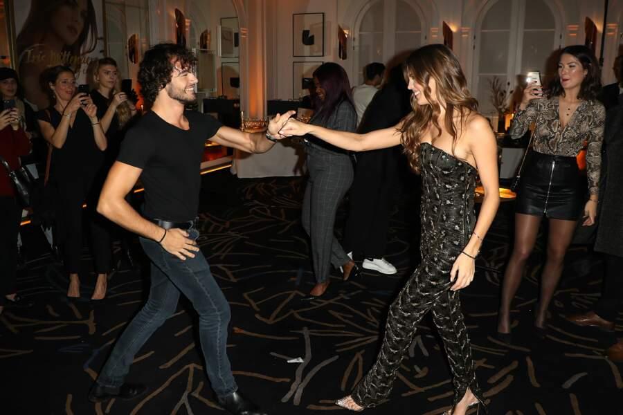 Lors de la soirée, Iris Mittenaere et Anthony Colette se sont entraînés pour le prochain prime de DALS.