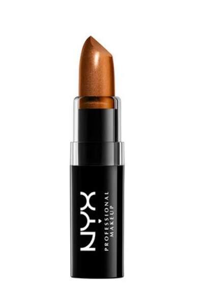 50 façons de briller : Rouge à lèvres métallique teinte wrath, NYX Professional 6,90 euros