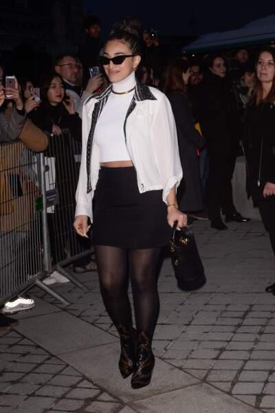 Camelia Jordana au défilé Louis Vuitton lors de la fashion week de Paris, le 6 mars
