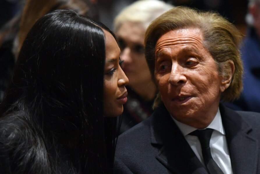 Messe hommage à Franca Sozzani : Naomi Campbell et Valentino Garavani