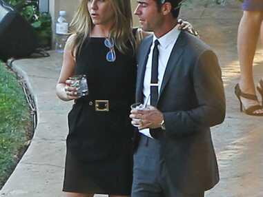 DIAPO Jennifer Aniston et Justin Theroux radieux au mariage de Jimmy Kimmel