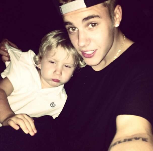 Justin Bieber et son petit frère Jaxon