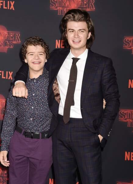 Gaten Matarazzo et Joe Keery lancement de la saison 2 de Stranger Things en 2017