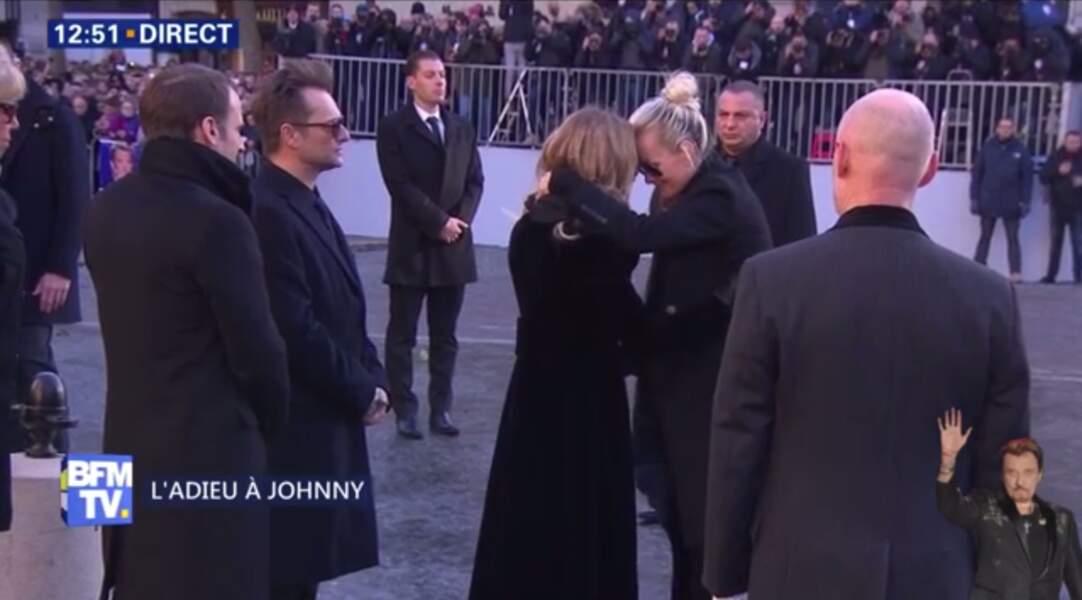 Hommage à Johnny Hallyday : Laeticia salue ensuite Laura Smet