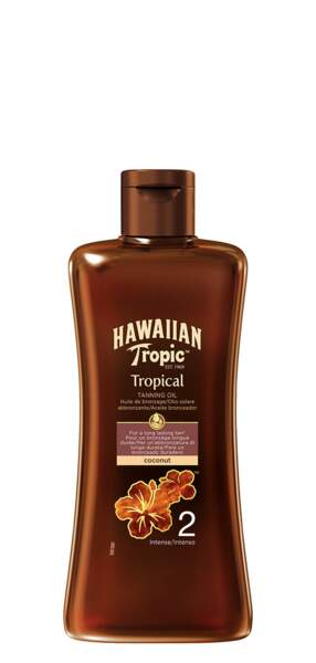 Huile bronzante SPF 2, 8 €, Hawaiian Tropic,