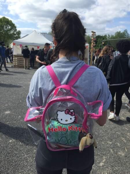 Marvellous Island Festival 2016: Anaée avait également un super sac à dos Hello Kitty transparent