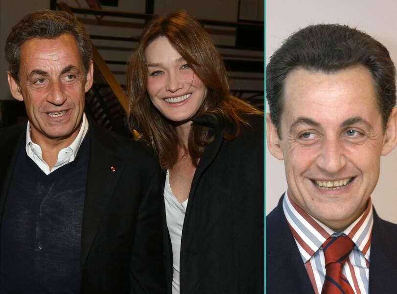 Nicolas Sarkozy aujourd'hui à 61 ans et à 48 ans, l'âge actuel de sa femme Carla Bruni