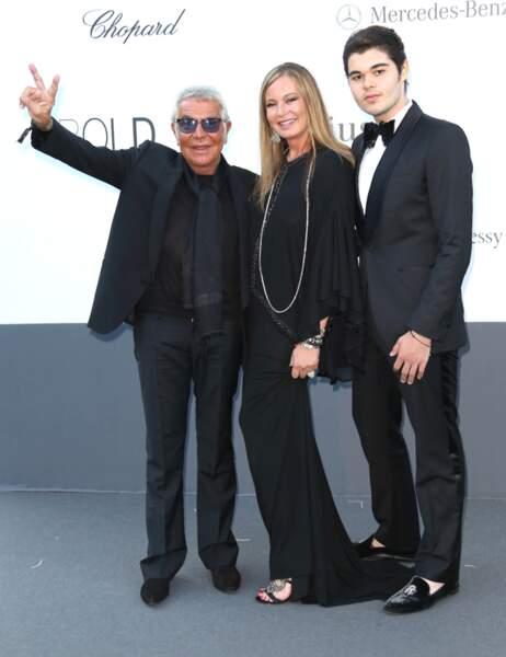 Roberto Cavalli, son épouse Eva et leur fils Robin