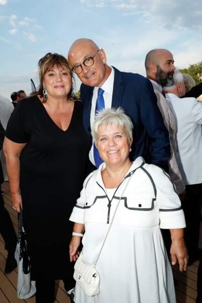 Michele Bernier, Mimie Mathy et son mari Benoist Gérard à l'anniversaire de Line Renaud