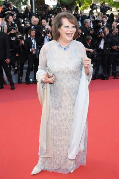 Cannes - Montée des Marches pour le 70ème anniversaire : Claudia Cardinale