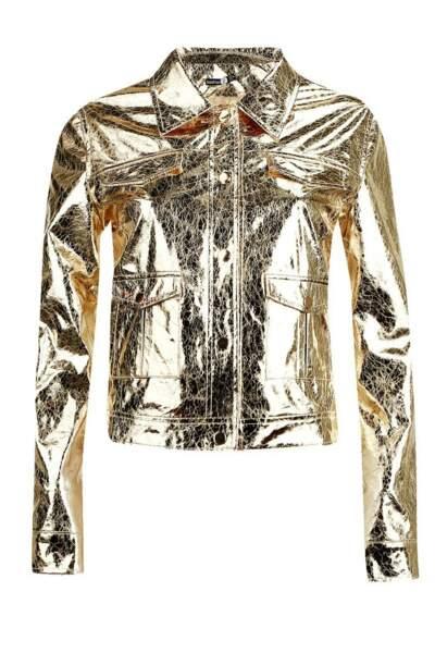 Veste de camionneur métallique, Boohoo x Zendaya, 24 euros au lieu de 74 euros
