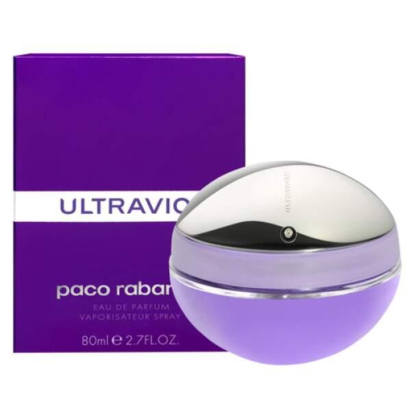 Ultra-Violet : Eau de parfum Ultraviolet, Paco Rabanne, 77,95 euros les 50 ml