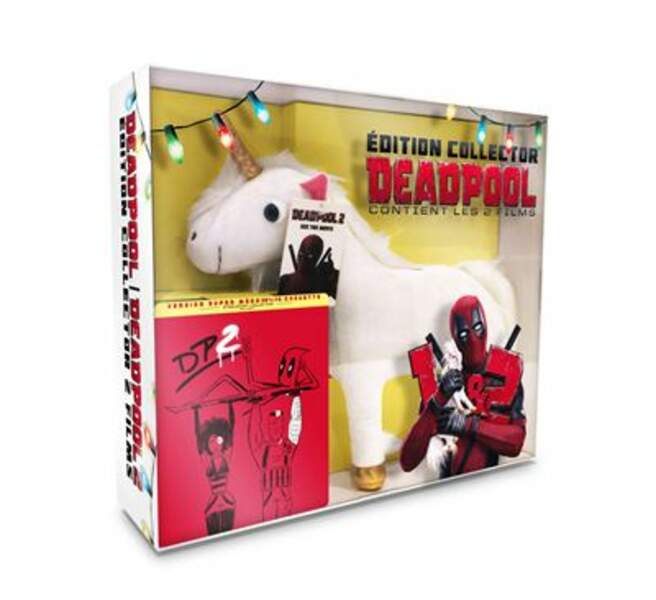 Coffret Deadpool 1 & 2 + peluche licorne + poster / Fox / blu ray 49,99 €