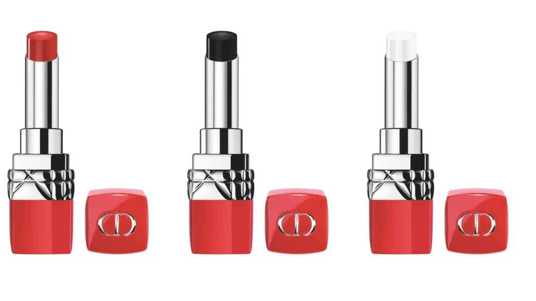 Rouges à lèvres Ultra Rouge, 37 € l'un, Dior