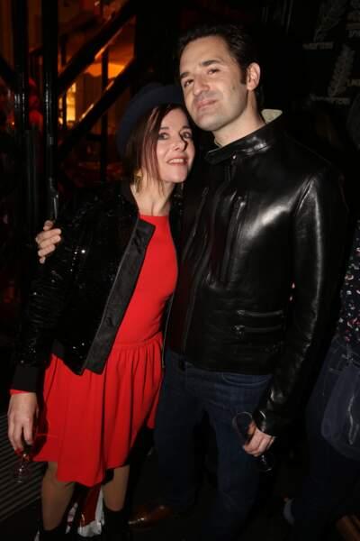 Laure Calamy et Nicolas Maury à la fête de fin de tournage de la saison 3 de Dix pour cent, le 25 avril à Paris